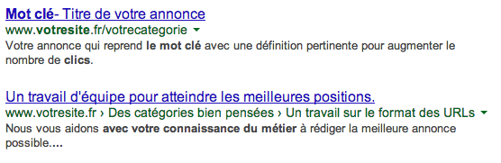 Optimisation titre description SEO référencement naturel